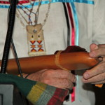 Elk Whistle describing flute detail.