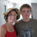 Geraldine Knatz and son