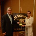 Deputy Sheriff Paul McClure and August speaker Geraldine Knatz (2)