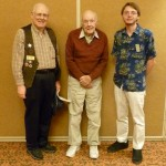 Honorary members Abe Hoffman and John Robinson with Patrick Mulvey