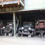 RV Garage with old automobiles