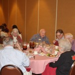 Feb 2016 Jim Macklin and others enjoy their dinner